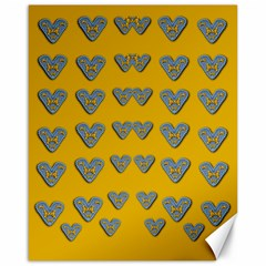 Butterfly Cartoons In Hearts Canvas 16  X 20  by pepitasart