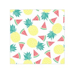 Vector Seamless Pattern With Pineapples Small Satin Scarf (square)
