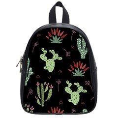 Cartoon African Cactus Seamless Pattern School Bag (small)