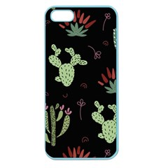 Cartoon African Cactus Seamless Pattern Apple Seamless Iphone 5 Case (color)