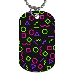 Geometric Seamless Pattern Dog Tag (two Sides) by Vaneshart