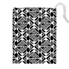 Graphic Design Decoration Abstract Seamless Pattern Drawstring Pouch (4xl)