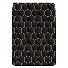 Hexagon Black Background Removable Flap Cover (s)