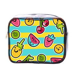 Summer Fruits Patterns Mini Toiletries Bag (one Side) by Vaneshart