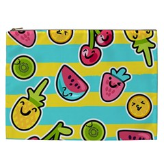 Summer Fruits Patterns Cosmetic Bag (xxl) by Vaneshart