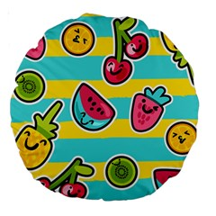 Summer Fruits Patterns Large 18  Premium Round Cushions