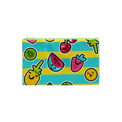Summer Fruits Patterns Cosmetic Bag (xs) by Vaneshart