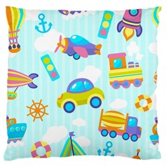 Transport Toy Seamless Pattern Standard Flano Cushion Case (one Side) by Vaneshart