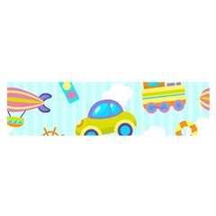Transport Toy Seamless Pattern Satin Scarf (oblong) by Vaneshart