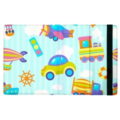 Transport Toy Seamless Pattern Apple Ipad Pro 9 7   Flip Case