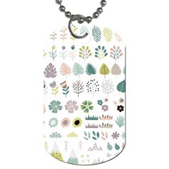 Cute Flowers Plants Big Collection Dog Tag (one Side)