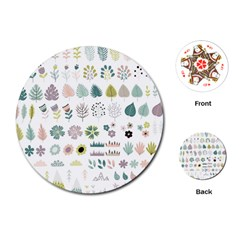 Cute Flowers Plants Big Collection Playing Cards Single Design (round)