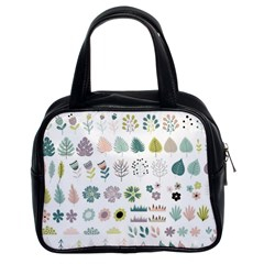 Cute Flowers Plants Big Collection Classic Handbag (two Sides)