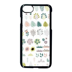 Cute Flowers Plants Big Collection Iphone 7 Seamless Case (black) by Vaneshart