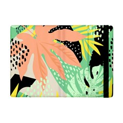 Abstract Seamless Pattern With Tropical Leaves Hand Draw Texture Vector Apple Ipad Mini Flip Case by Vaneshart