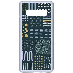 Mixed Background Patterns Samsung Galaxy S10 Plus Seamless Case(white) by Vaneshart