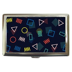 Memphis Seamless Patterns Abstract Jumble Textures Cigarette Money Case