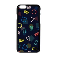 Memphis Seamless Patterns Abstract Jumble Textures Iphone 6/6s Black Enamel Case
