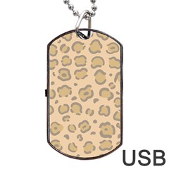 Leopard Print Dog Tag Usb Flash (one Side) by Sobalvarro