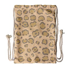 Leopard Print Drawstring Bag (large) by Sobalvarro