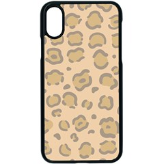 Leopard Print Iphone X Seamless Case (black) by Sobalvarro