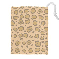 Leopard Print Drawstring Pouch (4xl) by Sobalvarro