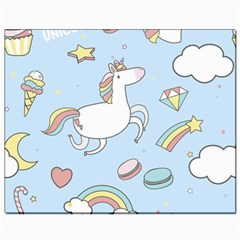 Unicorn Seamless Pattern Background Vector Canvas 8  X 10  by Sobalvarro