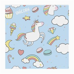 Unicorn Seamless Pattern Background Vector Medium Glasses Cloth (2 Sides) by Sobalvarro