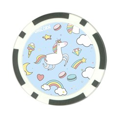 Unicorn Seamless Pattern Background Vector Poker Chip Card Guard by Sobalvarro