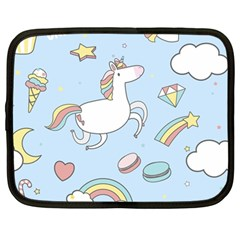 Unicorn Seamless Pattern Background Vector Netbook Case (large) by Sobalvarro