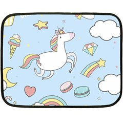 Unicorn Seamless Pattern Background Vector Fleece Blanket (mini)