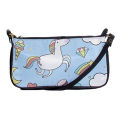 Unicorn Seamless Pattern Background Vector Shoulder Clutch Bag by Sobalvarro