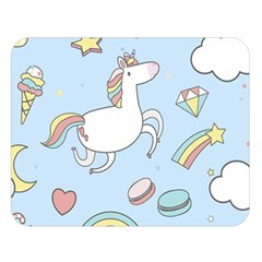 Unicorn Seamless Pattern Background Vector Double Sided Flano Blanket (large)  by Sobalvarro