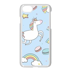 Unicorn Seamless Pattern Background Vector Iphone 7 Seamless Case (white) by Sobalvarro
