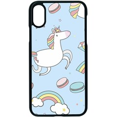 Unicorn Seamless Pattern Background Vector Iphone X Seamless Case (black) by Sobalvarro