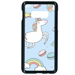 Unicorn Seamless Pattern Background Vector Samsung Galaxy S10e Seamless Case (black)