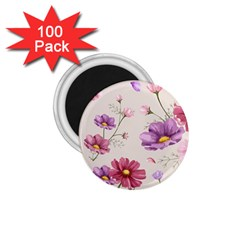 Vector Hand Drawn Cosmos Flower Pattern 1 75  Magnets (100 Pack)  by Sobalvarro