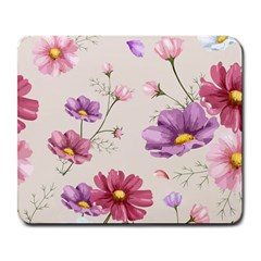 Vector Hand Drawn Cosmos Flower Pattern Large Mousepads by Sobalvarro