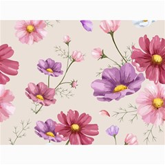 Vector Hand Drawn Cosmos Flower Pattern Canvas 18  X 24  by Sobalvarro