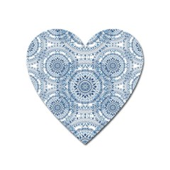 Boho Pattern Style Graphic Vector Heart Magnet by Sobalvarro