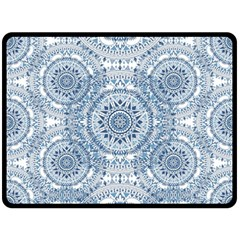 Boho Pattern Style Graphic Vector Double Sided Fleece Blanket (large)  by Sobalvarro