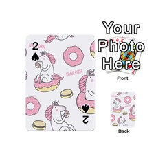 Unicorn Seamless Pattern Background Vector (1) Playing Cards 54 Designs (mini) by Sobalvarro