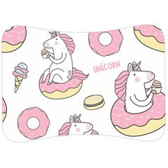 Unicorn Seamless Pattern Background Vector (1) Velour Seat Head Rest Cushion by Sobalvarro