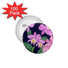 Vector Hand Drawn Orchid Flower Pattern 1 75  Buttons (100 Pack)  by Sobalvarro
