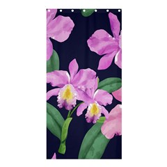 Vector Hand Drawn Orchid Flower Pattern Shower Curtain 36  X 72  (stall)  by Sobalvarro