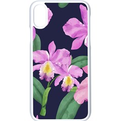 Vector Hand Drawn Orchid Flower Pattern Iphone X Seamless Case (white) by Sobalvarro