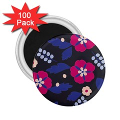 Vector Seamless Flower And Leaves Pattern 2 25  Magnets (100 Pack)  by Sobalvarro