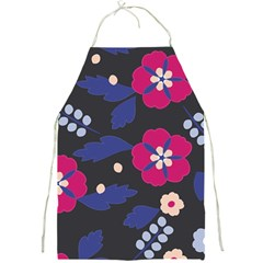 Vector Seamless Flower And Leaves Pattern Full Print Apron