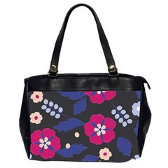 Vector Seamless Flower And Leaves Pattern Oversize Office Handbag (2 Sides) by Sobalvarro