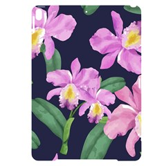Vector Hand Drawn Orchid Flower Pattern Apple Ipad Pro 10 5   Black Uv Print Case by Sobalvarro